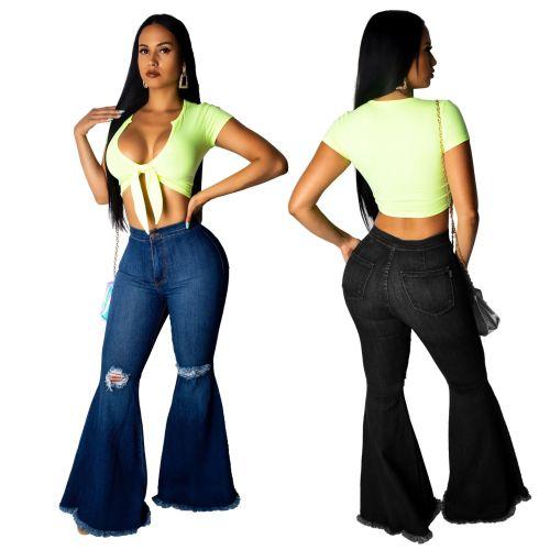 pantalones flared jeans women 2024