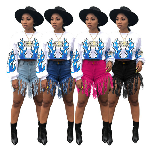 Sexy short jeans women 2095