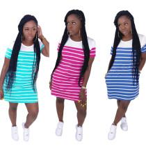 Casual stripe dress  K8121