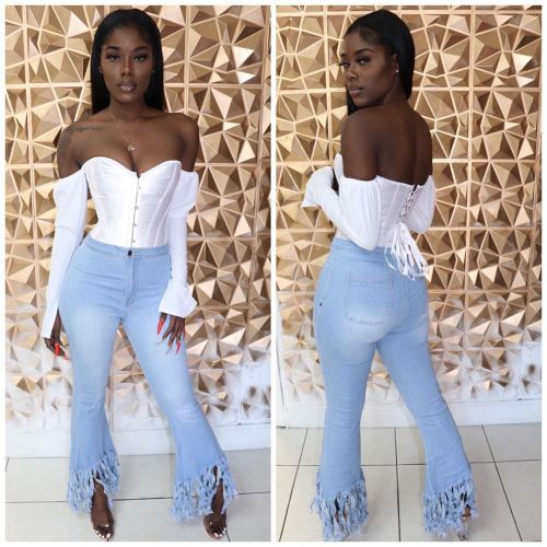 Ladies jeans pants LD8679