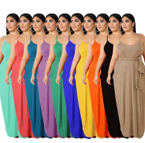 plus size straight  women maxi dress 20708