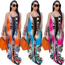 v-neck maxi dress 9641