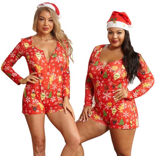 plus size sexy christmas women romper  20880