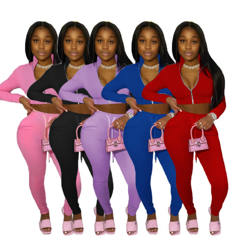 womens 2 piece tracksuits YM150