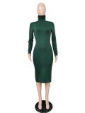 sexy long sleeve women dress 2589