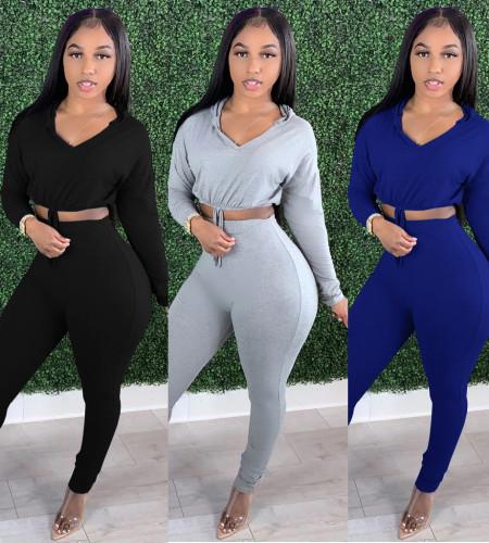 Ladies hoodies pant set YM151