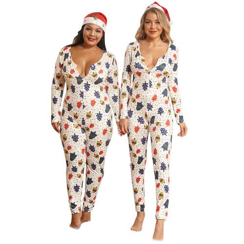 plus size sexy christmas women romper  20884