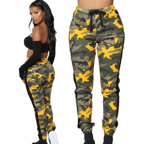Women cargo camo pants Ld85622