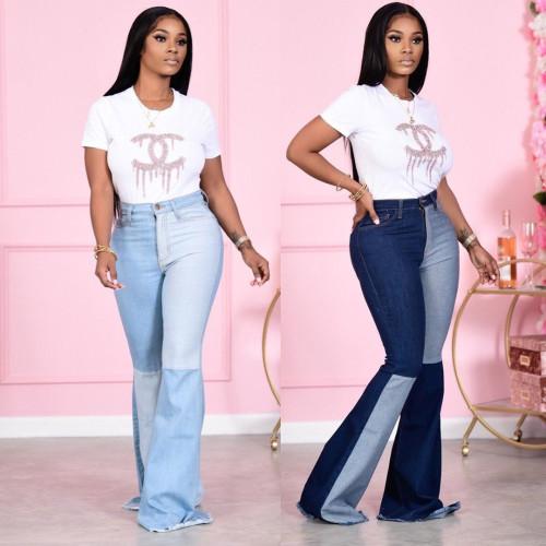Ladies bell bottom pants LD9051
