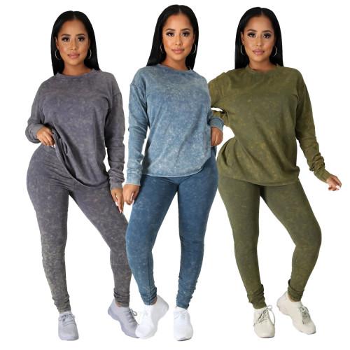 women two piece pants set 9932