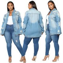 plus size sexy fashion jeans jacket 9866
