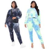 plus size women two piece hoodie tracksuit set 9922