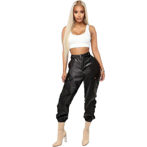 ladies leather pants LD8575
