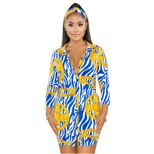 long sleeve women blouse dress  9912
