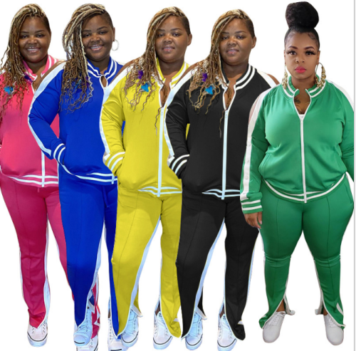 plus size two piece tracksuit 20999