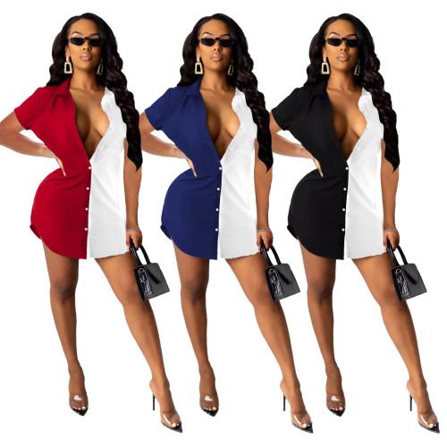 long sleeve women blouse dress 10003