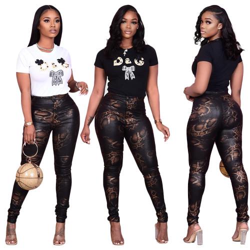 women printed yoga pants S390069