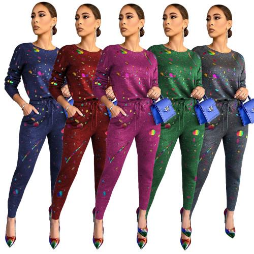 sexy women two piece pants set 9933