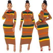 2021 new women long dress 9982