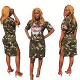 summer camo dress  LD8181
