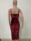 Ladies velour dress LD9095