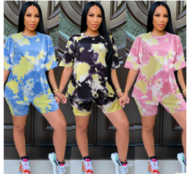 summer tie dye 2 pieces set LD8862