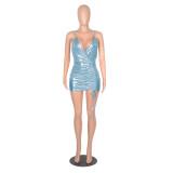 sexy v-neck dress 2614