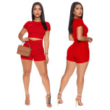 Stacked two piece short set 4208