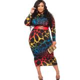 Plus size fashion bandage  dress 21035