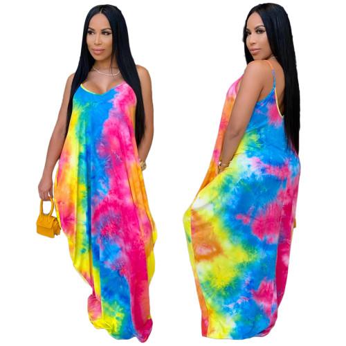 summer sexy v-neck long sleeve dress 9990