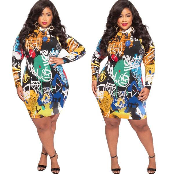 Plus size fashion bandage  dress 21036