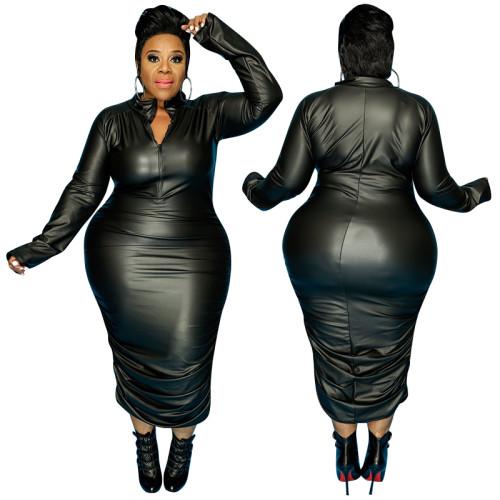 Plus size fashion bandage  dress 21043