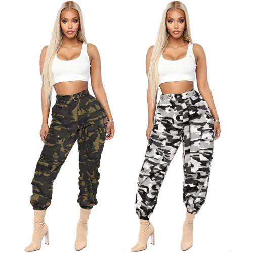 Women cargo camo pants LD8247