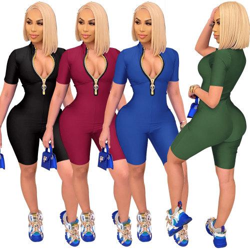 women zipper jumpsuit romper   2627