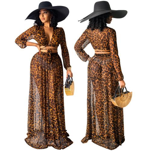 Two pieces set beach wear dress 4239