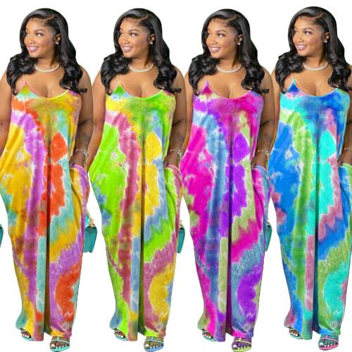 sexy tie dye women dress CM2118