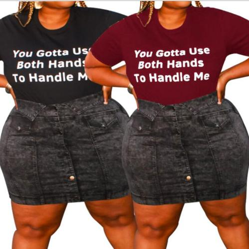 plus size women T-shirt 21061