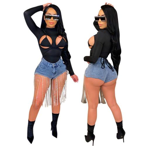 Women short denim jeans LD9145