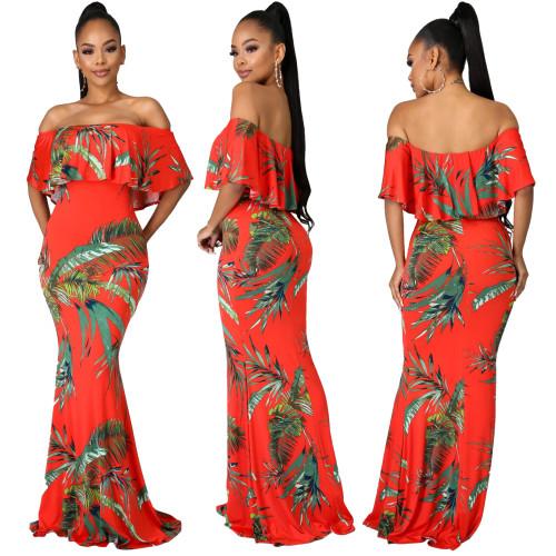 off shoulder maxi dress 10147