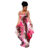 plus size women tie dye dress  21055
