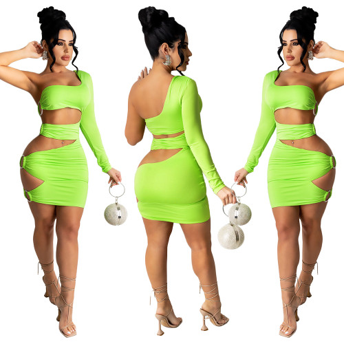 sexy one sholder dress S390095