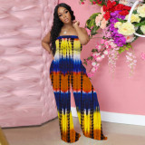 Tube tie dye women jumpsuit 4270