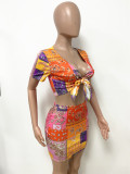 summer two pieces skirt set LD9138