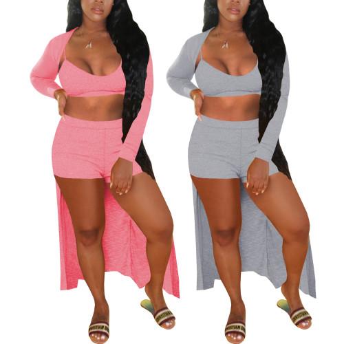 Women 3 pieces cotton sport wear set 4294