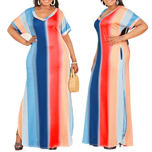 sexy v-neck  maxi dress 10159