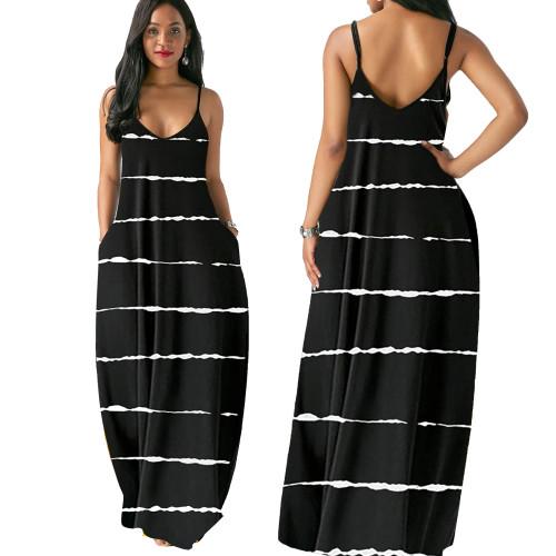 sexy v-neck  maxi dress 10173