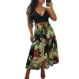 sexy Floral print long skirt 4305
