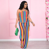 sexy halter  two piece pants set  YM193