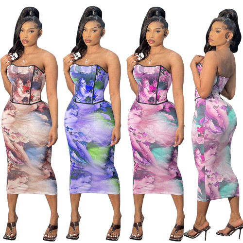 sexy two piece skirt set  CM2143