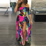 plus size sexy split women  dress S074